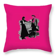 Bonnie Parker Aiming Rifle At Clyde Barrow March 1933-2008 Throw Pillow