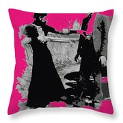 Bonnie Parker Aiming Rifle At Clyde Barrow March 1933 Throw Pillow