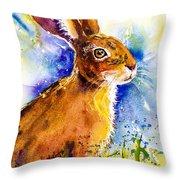Bonny Bunny Throw Pillow