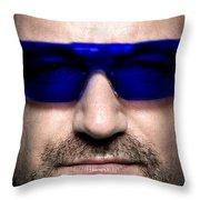 Bono Of U2 Throw Pillow