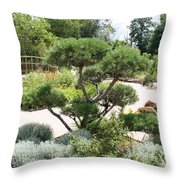 Bonsai In The Park Throw Pillow