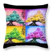 Bonsai Pop Art Throw Pillow