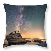 Bonsai Rock And Milky Way Throw Pillow