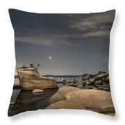 Bonsai Rock With Venus And Mars Throw Pillow