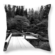 Bonsai Street Bridge 2 Throw Pillow