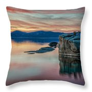 Bonsai Sunset 2 Throw Pillow