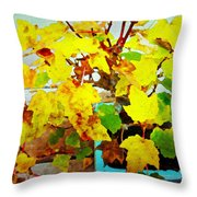 Bonsai Tree With Yellow Leaves Throw Pillow