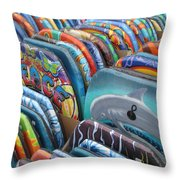 Boogie Boards Throw Pillow