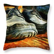 Boogie Shoes - Walking Story - Drawing Throw Pillow