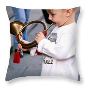 Boogie Woogie Bugle Boy Throw Pillow