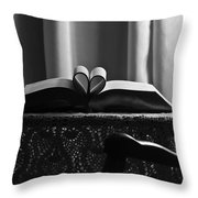 Book Heart 3 Throw Pillow