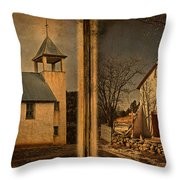 Book Of Churches Throw Pillow