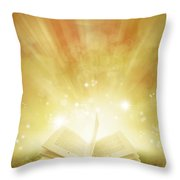 Book Of Dreams Throw Pillow by Les Cunliffe