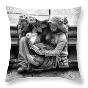 Book Reading  Gargoyle 2009 Throw Pillow
