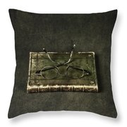 Book With Glasses Throw Pillow