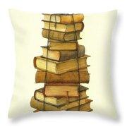 Books And Little Bird Throw Pillow
