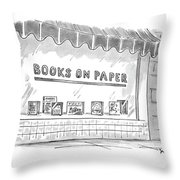 'books On Paper' Throw Pillow