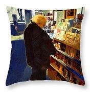 Bookstore Dreamer Throw Pillow