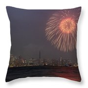 Boom In The Sky Throw Pillow