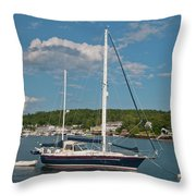 Boothbay Harbor 1390 Throw Pillow