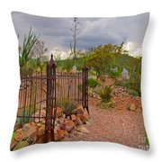 Boothill Cemetary Image Throw Pillow