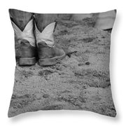 Boots And Horse Hooves Throw Pillow