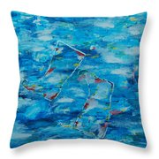 Boots In River Throw Pillow