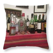 Booze At The Party Throw Pillow