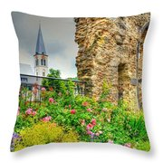 Boppard Garden Ruins Throw Pillow