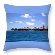 Bora Bora Lagoon Throw Pillow