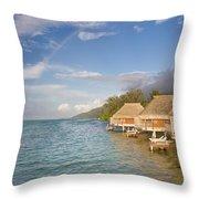 Bora Bora Rainbow Throw Pillow