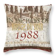 Bordeaux Blanc Label 1 Throw Pillow
