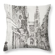 Bordeaux Throw Pillow