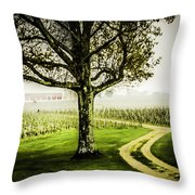Bordeaux Vineyard Throw Pillow
