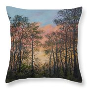 Border Pines Throw Pillow