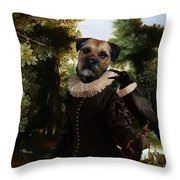 Border Terrier Art Canvas Print Throw Pillow