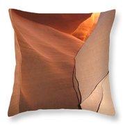 Bordered Rock - Antelope Canyon Throw Pillow