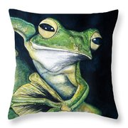 Boreal Flyer Tree Frog Throw Pillow