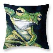 Boreal Flyer Tree Frog Throw Pillow