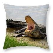 Boring And Yawning Throw Pillow