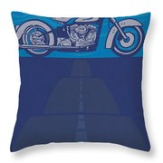 Born Free Born To Ride Throw Pillow