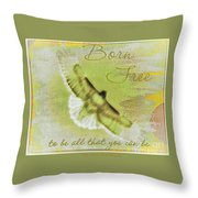 Born To Be Free Throw Pillow