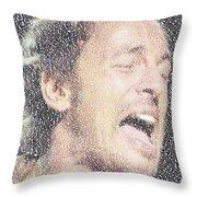 Born To Run Mosaic Throw Pillow