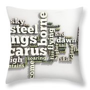 Borne On Wings Of Steel Throw Pillow