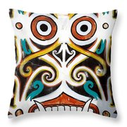 Borneo Shield Ornaments  Throw Pillow