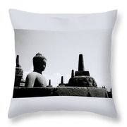 The Contemplation Of The Buddha Throw Pillow