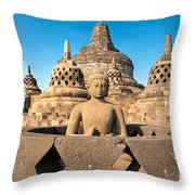Borobudur Temple - Yogyakarta - Indonesia Throw Pillow