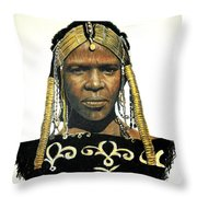 Bororo  Maiden Throw Pillow