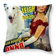 Borzoi Art - Anna Karenine Movie Poster Throw Pillow