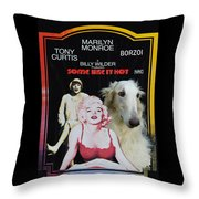 Borzoi Art - Some Like It Hot Movie Poster Throw Pillow